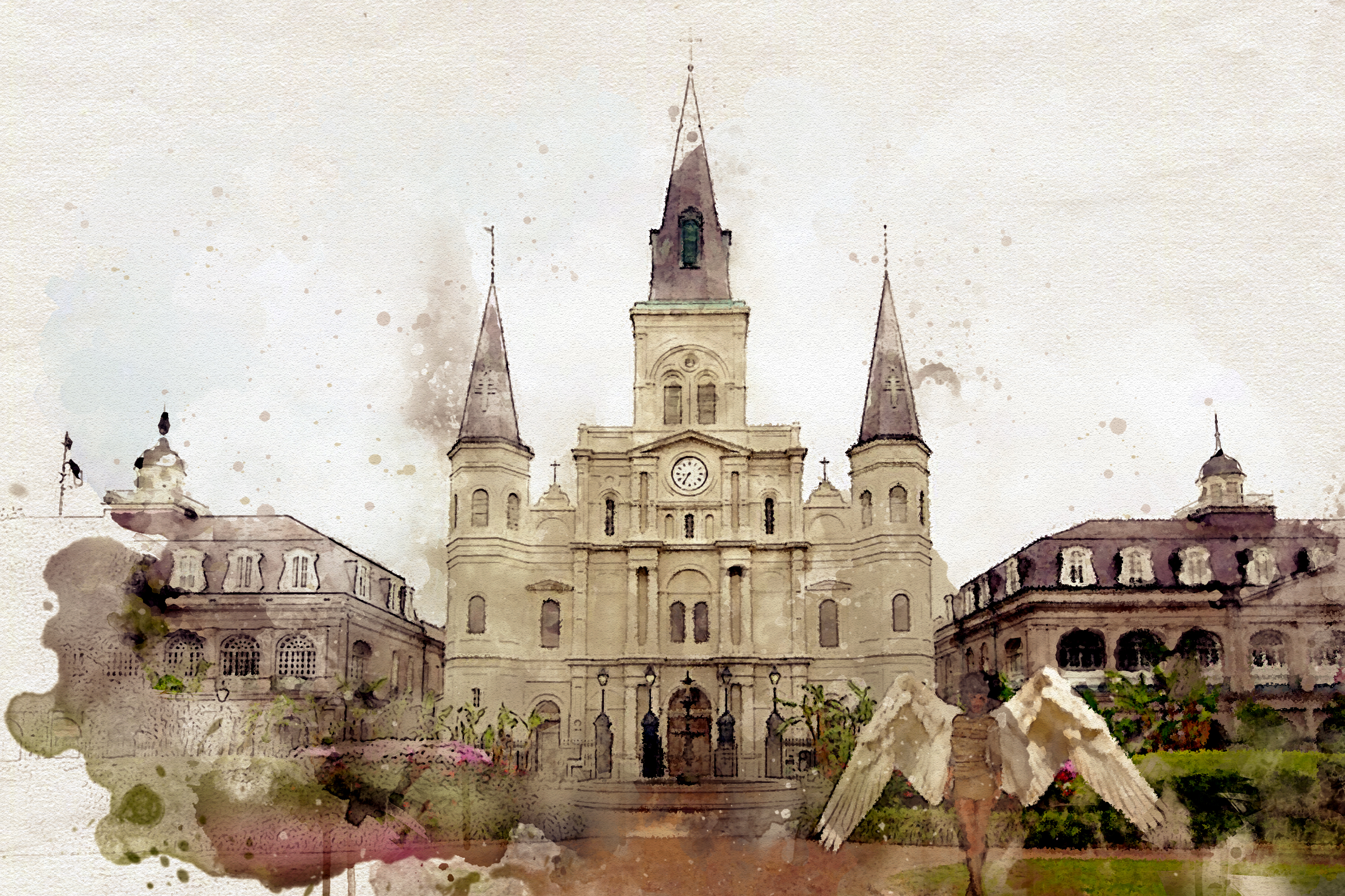 The Sentinels of New Orleans cover Art by R Aked.